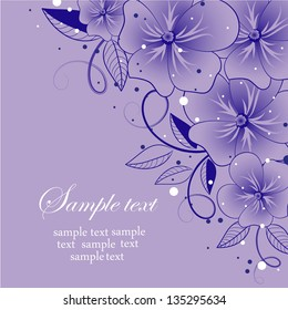 Abstract greeting card or invitation with floral background. Wedding card