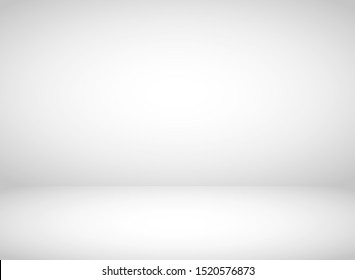 Abstract grey background. Empty room with spotlight effect. Vector illustration.