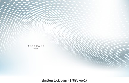 Abstract grey background poster with dynamic waves. technology  network Vector illustration.