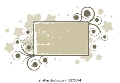 abstract grey floral banner