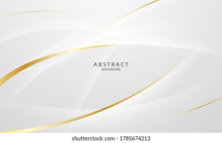 Abstract grey and gold background poster with dynamic waves. technology network Vector illustration. - Shutterstock ID 1785674213