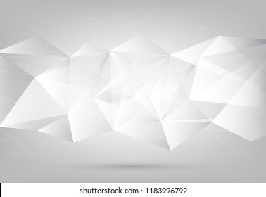 Abstract grey and polygon geometric corporate design background and wheel rim Vector illustration