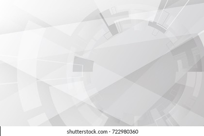 Abstract grey wheel geometric technology background with gear shape. Vector abstract graphic design