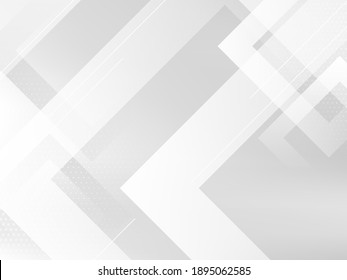 Abstract grey and white geometric stylish modern smooth background design