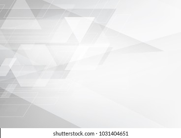 Abstract grey and white tech geometric corporate design background and wheel rim Vector illustration