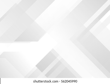 Abstract grey and white tech geometric corporate design background  eps 10