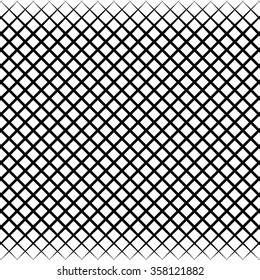 Abstract grid, mesh black and white pattern. vector