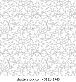 Abstract grid mesh seamless pattern. Low poly vector background.