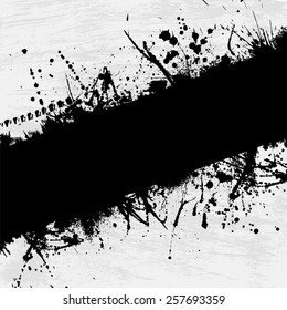 Abstract grunge background with black ink blots. eps10