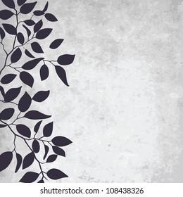 abstract grunge background with elegance leaf pattern.Vector illustration