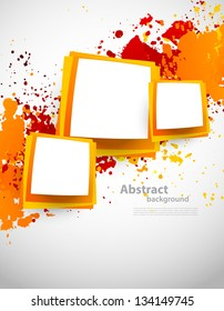 Abstract grunge background with squares
