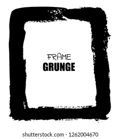 Abstract grunge background.Hand drawn frame.