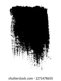 Abstract grunge banner.Black brush stroke background.
