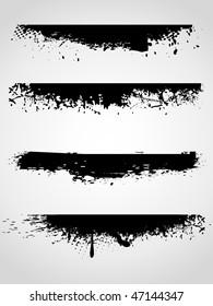 Abstract grunge banners, vector illustration