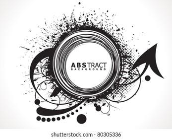 abstract grunge based black design vector illustration