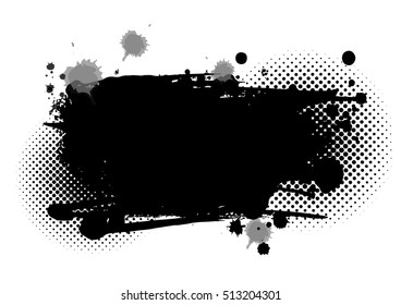 Abstract grunge black brush stroke