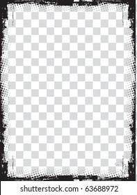 abstract grunge border design element - vector