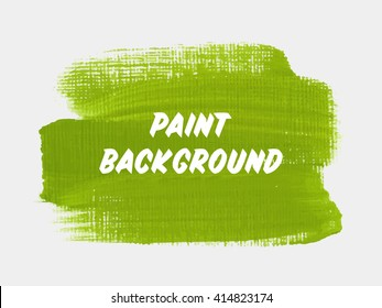 Abstract grunge brush paint texture background design acrylic stroke poster vector. Original rough paper hand painted vector. Perfect design for headline, logo and banner.