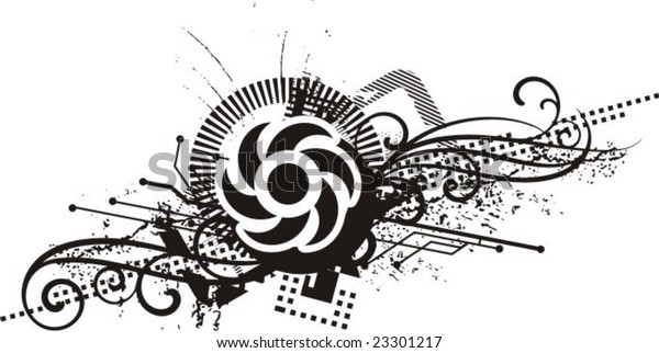 abstract grunge design vector illustration black stock vector  royalty free  23301217