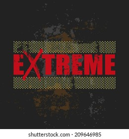 abstract grunge extreme design, vector illustration background