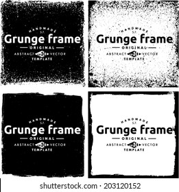 Abstract grunge frame set. Background vector texture