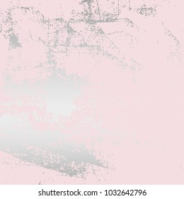 Abstract Grunge Pattina effect Pastel  Silver RetroTexture. Trendy Chic Background made in Vector for your design