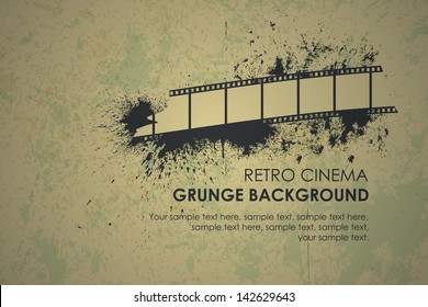 Abstract grunge retro background. Torn film