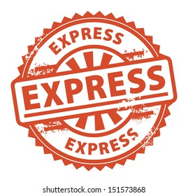 Abstract grunge rubber stamp with the text Express written inside the stamp, vector illustration
