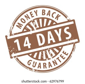 Abstract grunge rubber stamp with the word money back guarantee written inside the stamp, vector illustration