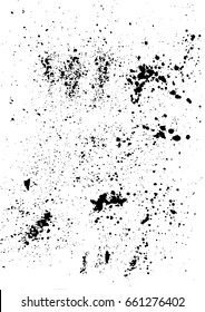 Abstract grunge texture, splatter grunge effect and vector background.