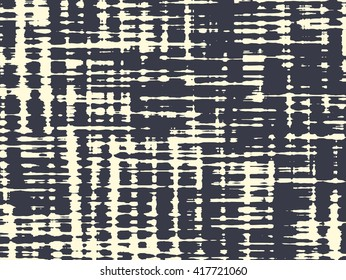 Abstract grunge vector background. Monochrome horizontal composition of irregular geometric shapes created using handmade camera-less photographic print.