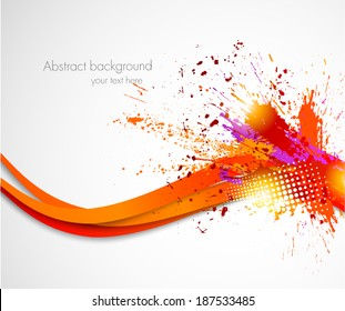 Abstract grunge wavy background