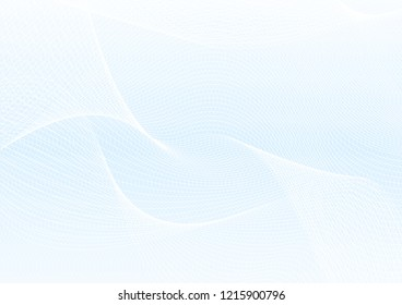 Abstract guilloche pattern (vector complicated line texture). Blank blue background useful for certificate, diploma, official document, formal paper
