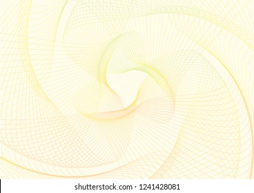 Abstract guilloche pattern (vector complicated line texture). Blank background useful for certificate, diploma, official document, formal paper
