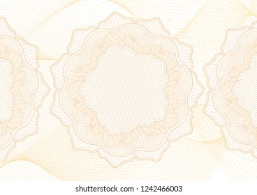 Abstract guilloche pattern (vector complicated line texture). Blank high detailed background useful for certificate, diploma, official document, formal paper
