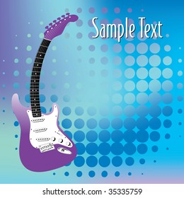 An Abstract guitar, music background in vector format