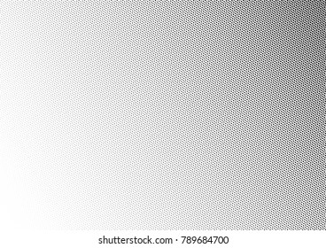 Abstract Halftone Background. Black and White Fade Pattern. Pop-art Points Overlay. Distressed Backdrop. Vector illustration