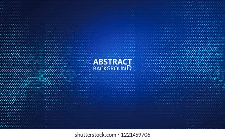 The abstract halftone background consists of different dots.