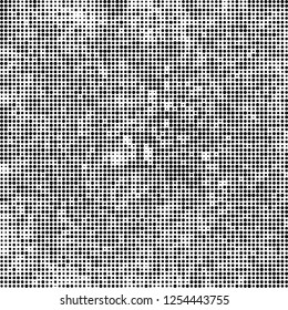 Abstract halftone black and white