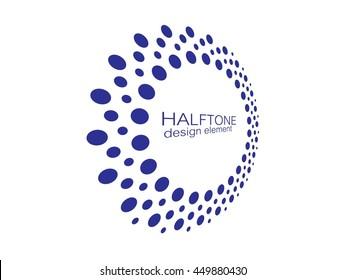 Abstract Halftone Circle Logo Design Element, vector illustration