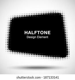 Abstract Halftone Design Element, vector illustration