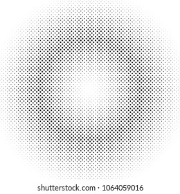 Abstract halftone dot pattern background - vector design from circles
