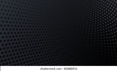 Abstract halftone dots background in black colors