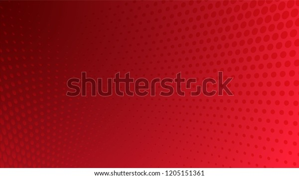 Abstract halftone dots dotted background in red colors presentation poster