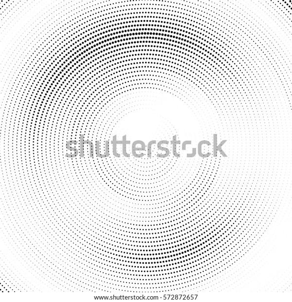 抽象的なハーフトーンのドット付き円パターン。ベクターイラスト。