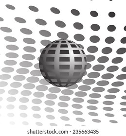 Abstract halftone globe design, stock vector illustration