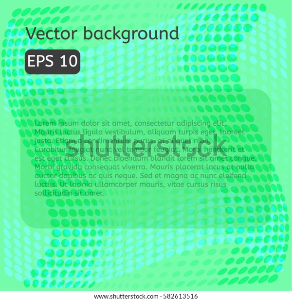 Abstract halftone green background eps10