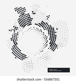 abstract halftone grunge background in circle style