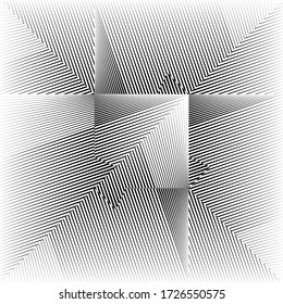Abstract halftone lines background, geometric dynamic pattern, vector modern design texture for card, cover, poster, decoration.