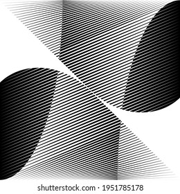 Abstract halftone lines background, geometric dynamic pattern, vector modern design texture for card, poster, cover, banner, flyer.